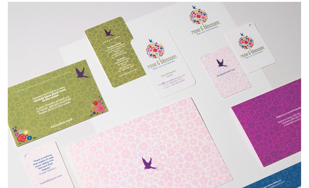 rose and blossom stationary