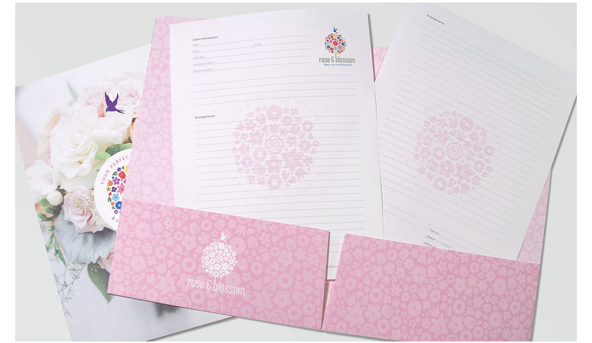 rose and blossom folder