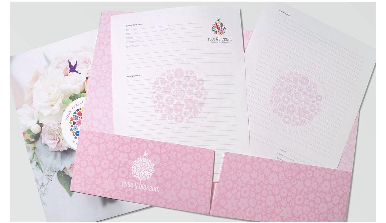 rose and blossom folder
