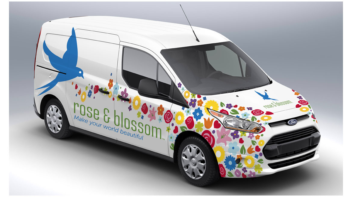 rose and blossom van wrapper
